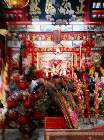 """""""ผ้ายันต์ลุยไฟโค้วโต่วฮู้"""" ขององค์อากงท่านเทพเจ้ากวนอู ศาลเจ้าพ่อกวนอู คลองสาน"""